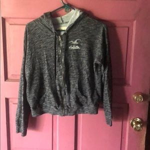 Hollister light zip jacket with hood